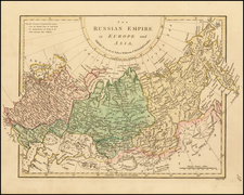 Poland, Russia, Central Asia & Caucasus and Russia in Asia Map By Robert Wilkinson