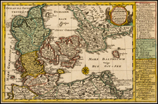 Scandinavia and Denmark Map By Johann George Schreiber