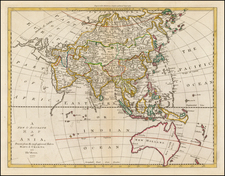 Asia, Asia and Australia Map By Thomas Bowen
