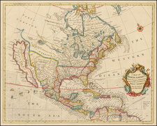 North America Map By Richard William Seale