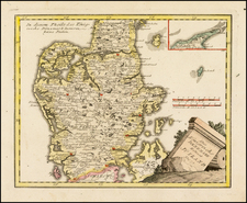 Denmark Map By Franz Johann Joseph von Reilly
