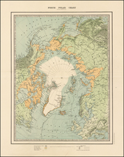 Polar Maps, Alaska and Canada Map By W. & A.K. Johnston