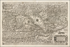 Hungary and Romania Map By Claes Janszoon Visscher
