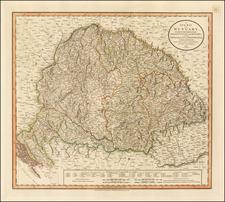 Hungary, Romania and Balkans Map By John Cary