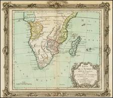 South Africa Map By Louis Brion de la Tour
