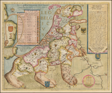 Netherlands and Curiosities Map By Michael Aitzinger