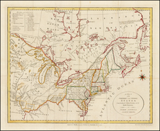 United States, New England, Mid-Atlantic, Midwest and Canada Map By John Stockdale / Jedidiah Morse