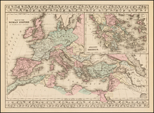 Europe, Europe, Greece and Mediterranean Map By Samuel Augustus Mitchell