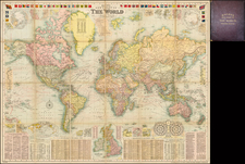 World and World Map By G.W. Bacon & Co.