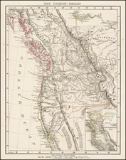 Canada and California Map By Carl Flemming