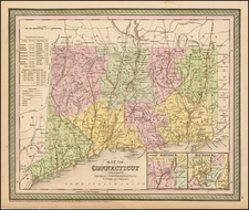 New England and Connecticut Map By Thomas, Cowperthwait & Co.