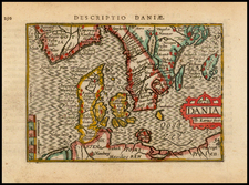 Scandinavia and Denmark Map By Petrus Bertius