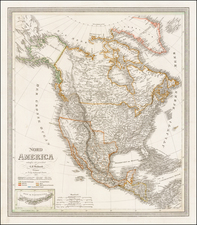 North America Map By Carl Ferdinand Weiland