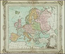 Europe Map By Louis Brion de la Tour