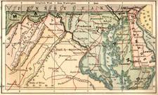 Mid-Atlantic Map By The Bradstreet Company