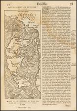 Greece Map By Francois De Belleforest