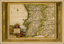 Portugal Map By Pieter van der Aa