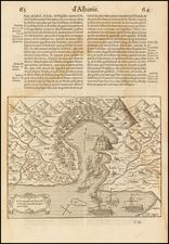 Balkans and Albania, Kosovo, Macedonia Map By Francois De Belleforest