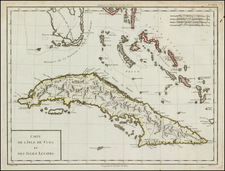 Florida and Caribbean Map By Pierre Antoine Tardieu