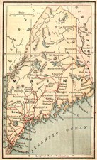 New England Map By The Bradstreet Company