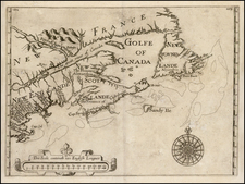 New England and Canada Map By William Alexander