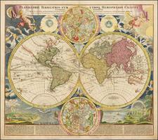 World, World and Celestial Maps Map By Johann Baptist Homann