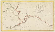 Alaska and Canada Map By James Cook