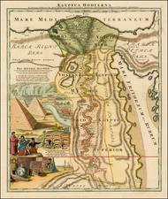 Middle East and Egypt Map By Johann Baptist Homann