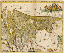 Netherlands Map By Justus Danckerts