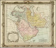 Middle East and Turkey & Asia Minor Map By Louis Brion de la Tour