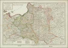 Poland Map By Pierre-Gilles Chanlaire  &  Edme Mentelle