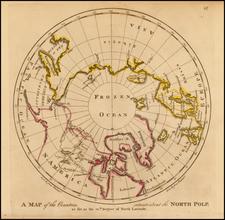 Polar Maps, Alaska and Canada Map By Mathew Carey