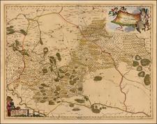 Ukraine Map By Johannes et Cornelis Blaeu / Pierre Mortier