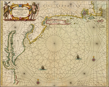 New England, Mid-Atlantic and Southeast Map By Johannes van Loon