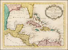 Southeast, Caribbean and Central America Map By Jacques Nicolas Bellin / J.V. Schley