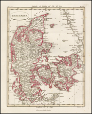 Denmark Map By Batelli & Fanfani