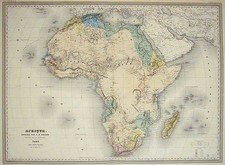 Africa and Africa Map By Adolphe Hippolyte Dufour