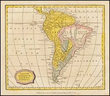 South America Map By Charles Brightly  &  E. Kinnersly