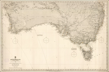 Australia Map By British Admiralty
