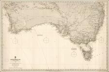 Australia Map By British Admiralty