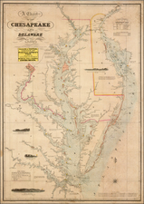 Mid-Atlantic, Maryland, Delaware and Southeast Map By Fielding Lucas Jr.