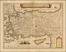 Turkey, Mediterranean, Balearic Islands and Turkey & Asia Minor Map By Jan Jansson