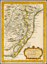 Brazil Map By Jacques Nicolas Bellin