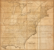 United States, New England, Mid-Atlantic, Southeast and Midwest Map By Abraham Bradley