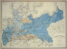 Europe, Germany, Poland and Baltic Countries Map By Adolphe Hippolyte Dufour