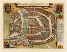Russia Map By Georg Braun  &  Frans Hogenberg