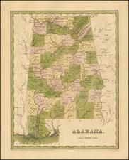 South and Alabama Map By Thomas Gamaliel Bradford