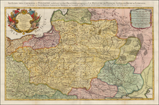 Poland, Russia, Ukraine and Baltic Countries Map By Johannes Covens  &  Cornelis Mortier