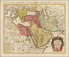 Balkans, Turkey, Mediterranean, Central Asia & Caucasus, Middle East, Turkey & Asia Minor and North Africa Map By Johannes Covens  &  Cornelis Mortier