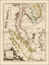 Southeast Asia, Indonesia and Thailand, Cambodia, Vietnam Map By Jean-Baptiste Nolin